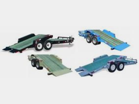 Low profile fixed section tilt trailer