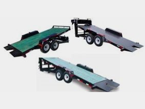 Low profile full length tilt trailer